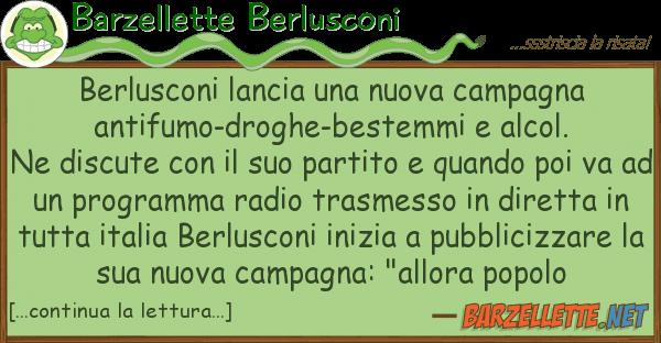 Barzellette Berlusconi berlusconi lancia nuova campagna ant