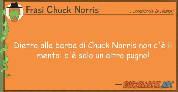 Frasi Chuck Norris dietro barba chuck norris c'