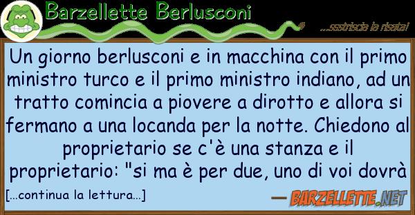 Barzellette Berlusconi giorno berlusconi macchina