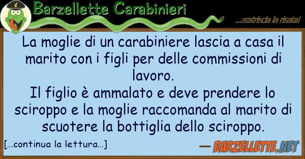 Barzellette Carabinieri moglie carabiniere lascia cas