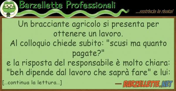 Barzellette Professionali bracciante agricolo presenta
