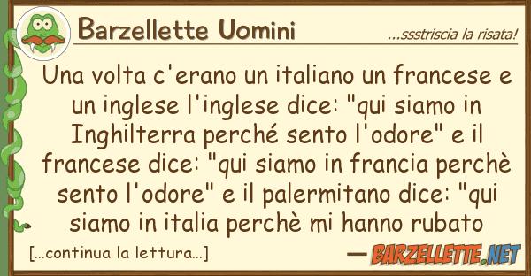 Barzellette Uomini volta c'erano italiano frances