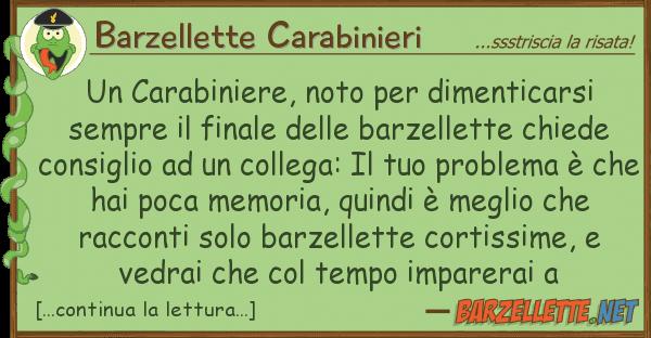 Barzellette Carabinieri carabiniere, noto dimenticarsi