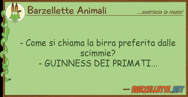 Barzellette Animali - chiama birra preferita