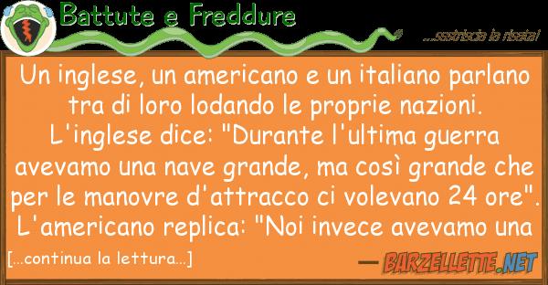 Battute e Freddure inglese, americano italiano p
