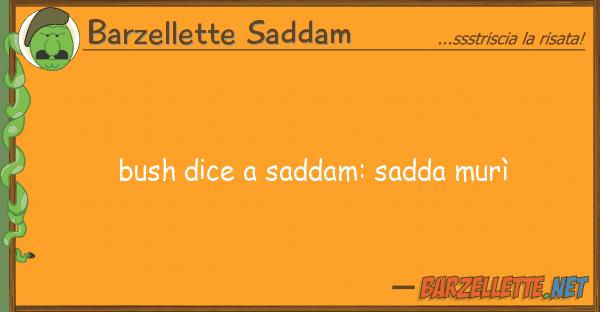 Barzellette Saddam bush dice saddam: sadda mur?