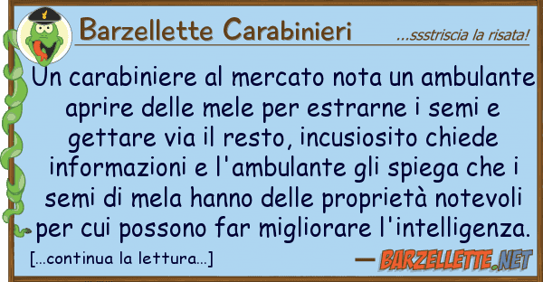 Barzellette Carabinieri carabiniere mercato nota ambula
