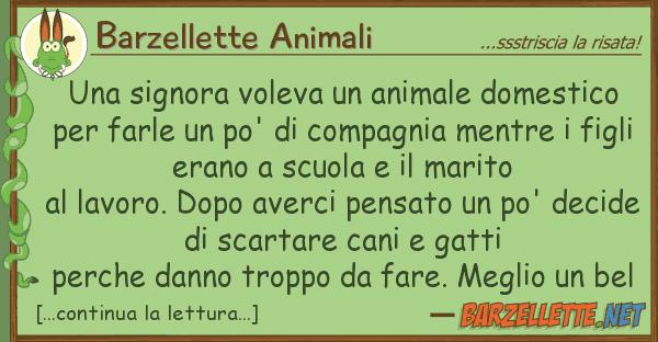 Barzellette Animali signora voleva animale domestico