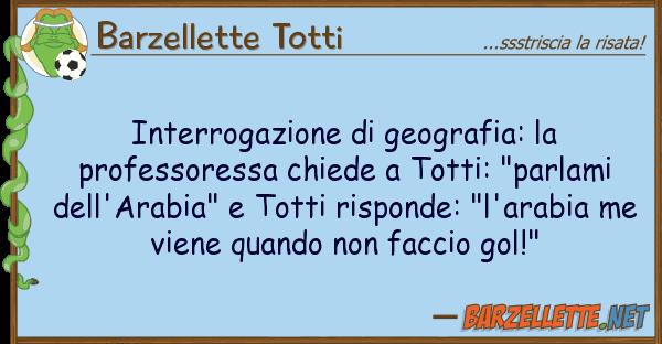 Barzellette Totti interrogazione geografia: professo