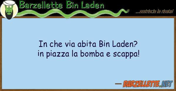 Barzellette Bin Laden via abita bin laden? piazza