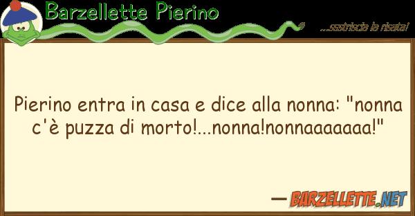 Barzellette Pierino pierino entra casa dice nonna: