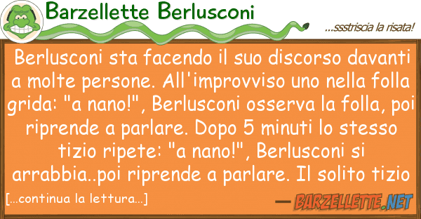 Barzellette Berlusconi berlusconi sta facendo discorso d