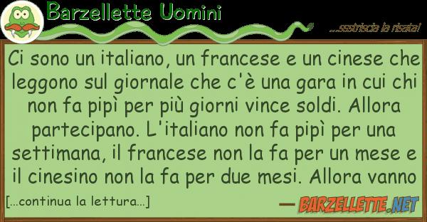 Barzellette Uomini sono italiano, francese