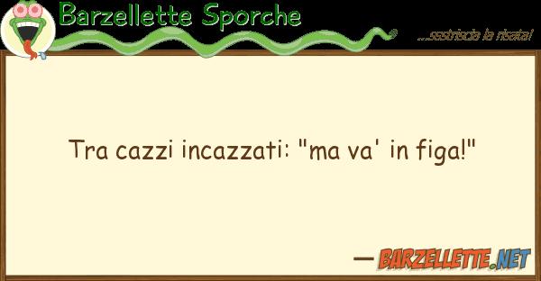 """Barzellette Sporche cazzi incazzati: """"ma va' figa!"""""""