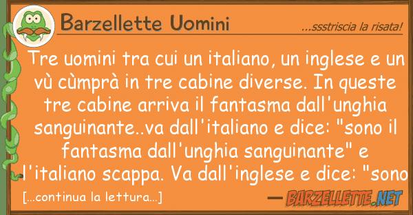 Barzellette Uomini tre uomini italiano, ingle