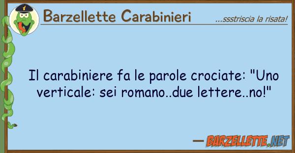 "Barzellette Carabinieri carabiniere fa parole crociate: ""u"